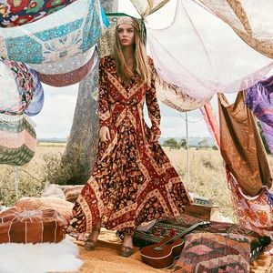 Spell & The Gypsy Collective Lolita Gown in Rust